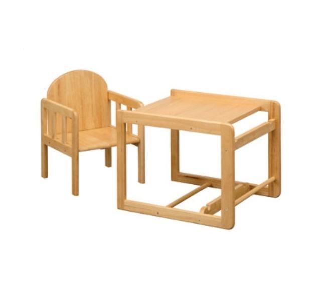 صندلی غذای دوکاره چوبی